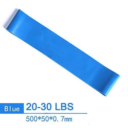 GHKUFH Banda de Fitness 2080mm Yoga Fitness Pull Rope Goma Loop Bandas de Resistencia Crossfit Muscle Power Training Strength Gym Workout Equipo de Pilates, 500mm 20,30lb
