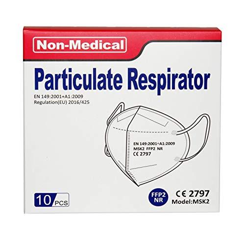 ISN mask2 – FFP2 / KN 95 Atemschutzmaske, staubdicht, einzeln verpackt – Atmungsaktive 5-Lagen-Maske CE-zertifiziert -10er Packung. - 7