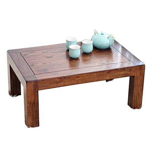 qazxsw Couchtische Einfacher schwimmender Fenstertisch Niedriger Tisch im japanischen Stil Antike Plattform Old Elm Wood Tatami