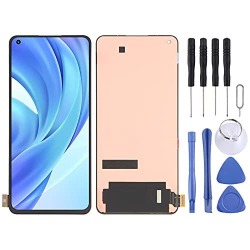 GGAOXINGGAO Pantalla de reemplazo del teléfono móvil Pantalla LCD y digitalizador es de Material AMOLED Material LCD para Xiaomi MI 11 Lite M2101K9AG Accesorios telefónicos
