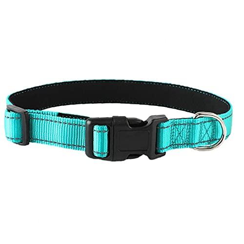 Collares Reflectantes Para Perros Duraderos Cuello De Perro Suave De Nylon Collar De Neopreno Acolchado Para Mascotas Ajustable Para Pequeños Perros Grandes Grandes Diarios Caminando En El Bosque