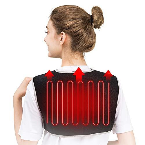 QIYU Heizkissen Wärmekissen, Schulter Wärmepad, Wärmekissen Nacken, Schulter, Rücken, lindert Schmerzen im Nacken und Rücken