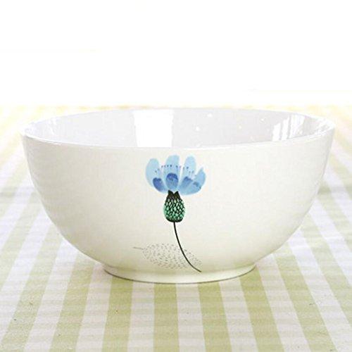 Liuyu Kitchen Home Bone China 8 Pouces Riz Bowl Face Bowl Soupe Bol Soup Basin Ramen Bowl (Couleur : Bleu)