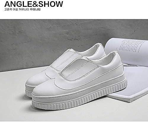 HOESCZS Duhommedi blanc chaussures Femme Nouveau Printemps Basic Chaussures Wild Fashion Chaussures Chaussures à Semelle épaisse été