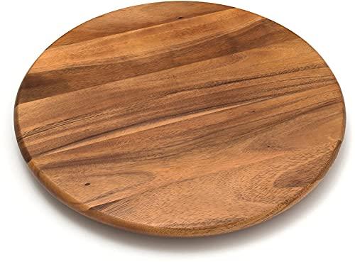 "Lipper International Acacia Wood 18"" Lazy Susan Kitchen Turntable"