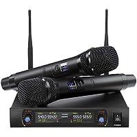 Nasum UHF Dual Channel Wireless Karaoke Microphone System with 2x Mics