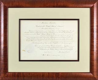 Abraham Lincoln Autographed Signed 11X155 1861 Ambassador Appointment Auto Graded 10 Bas - Certified Signature