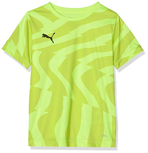 PUMA Uni T-Shirt Cup Jersey Core Jr, Fizzy Yellow-Puma Black, 116, 703776