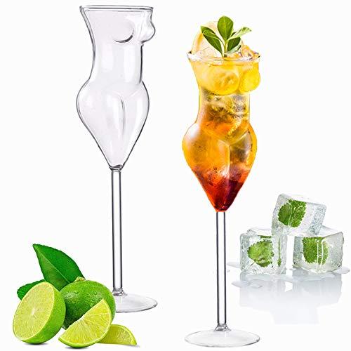 BSSN Novedad - Juego de 2 copas de vino, creativas y sensuales para copas de whisky, copas de champán para la celebración del bar, para fiestas en casa