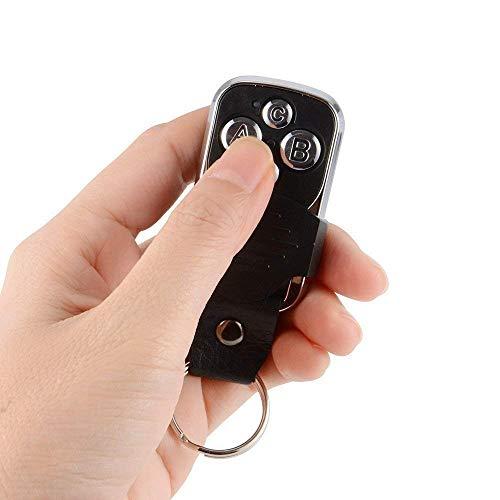 [NUEVO] Control remoto de garaje y portón/portal/alarma universal/Mando a distancia universal/Incluye batería/pila y manual idioma en español 433 MHZ - Con 4 fuentes de grabación - GAMA LUXUOR
