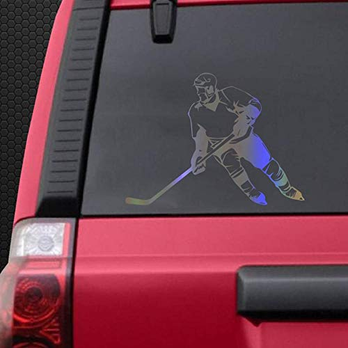 QULIN Auto-Aufkleber 15 * 20 cm cool Eishockey Körper Aufkleber 3D Auto Cartoon lustige Vinyl Aufkleber reflektierende Auto Aufkleber Großhandel Auto Styling Zubehör