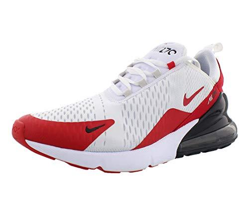 Nike Mens Air Max 270 Running Shoe (9.5), White/University Red