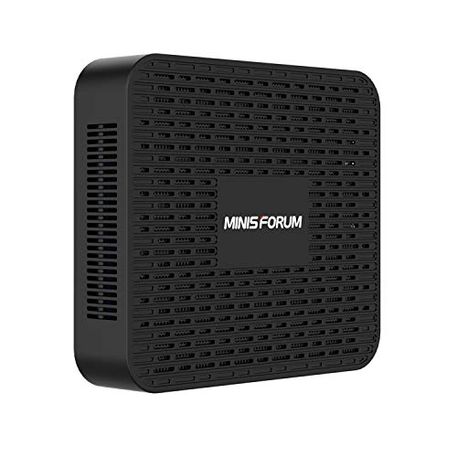 Mini PC, processeur Intel Celeron J4125 processeur quadricœur 8 Go DDR4 / 128 Go SSD Mini Ordinateur de Bureau avec Windows 10, Connexion HDMI et DP, WiFi Double Bande