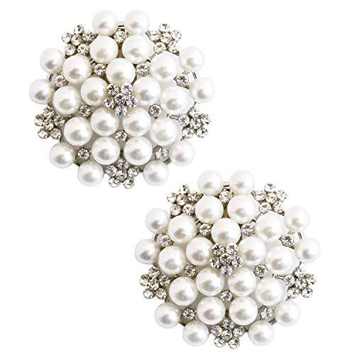 Elegantpark CW 2 piezas decoración de cristal Wedding Party accesorios regalo Astilla Clips de zapatos