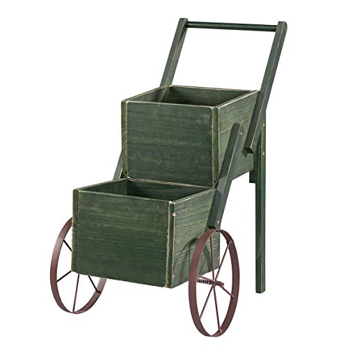 Fox Valley Traders 366288 Garden Trolley Cart, Green