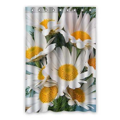 Dalliy gebruik daisy bloem waterdicht polyester douchegordijn douchegordijn 120 cm x 183 cm 48
