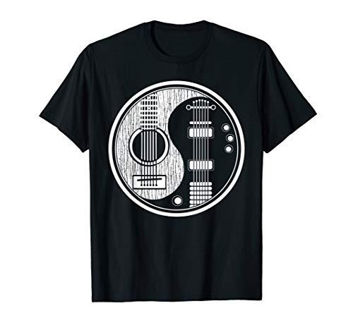Ying Yang Tee Shirt Acoustic Guitar TShirt Rock star Gift T-Shirt