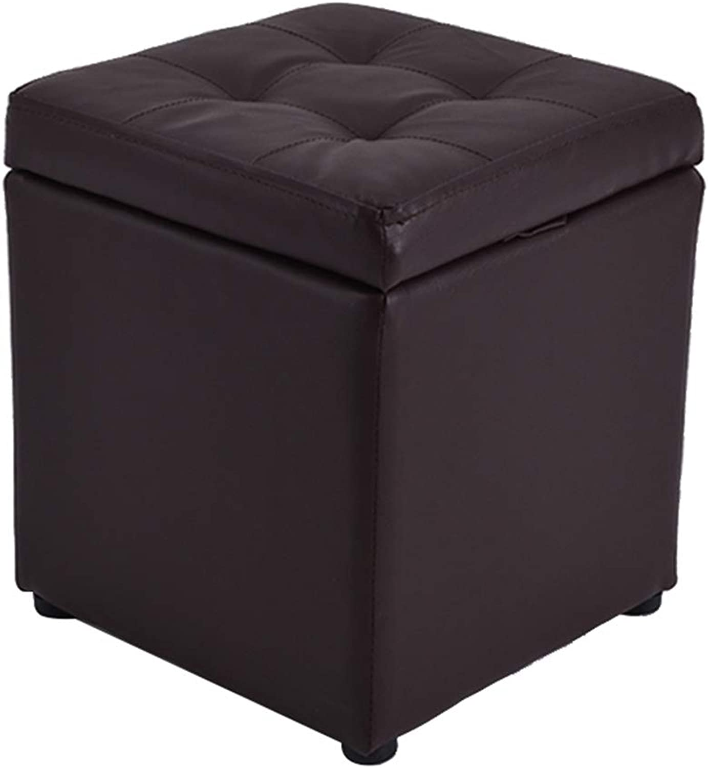 Bedroom Storage Stool, Solid Wood shoes Bench, Living Room Sofa Bench, Different Sizes,Easy to Store,Houshold Footstool,Black,M