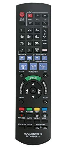 ALLIMITY N2QAYB001046 sub N2QAYB000759 Fernbedienung Ersetzt für Panasonic Blu-ray Recorder DMR-BCT750 DMR-BCT755 DMR-BCT850 DMR-BCT855 DMR-BST750 DMR-BST755 DMR-BST850 DMR-BST855 DMR-BST950