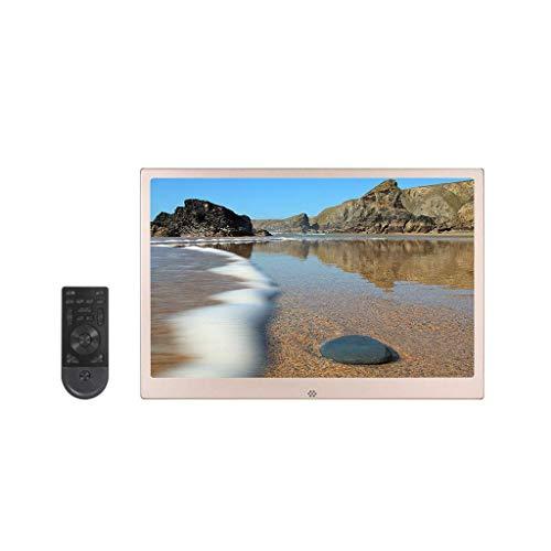 Cornice per foto da 17 pollici in lega di alluminio ultrasottile a bordo stretto HD 1080P a parete telecomando digitale macchina pubblicitaria per album elettronico - supporto calendario/orologio Dec