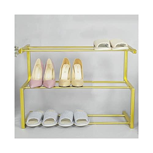 Repisa de zapatos Zapato estante creativo zapato estante minimalista diseño zapato zapatos deportes zapatos botas flip flop Easy instalación zapato zapato estante Soporte de zapatos ( Color : Gold ) 🔥