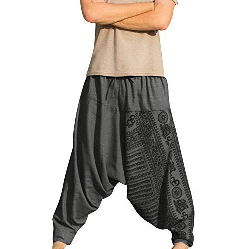 Pantalones De Harén De Hombre Pantalones Hippie Casual Modernas Bienestar De Yoga Bailan Los Pantalones del Harem De Los Bloomers De Playa Pantalones Deportivos Aladin Pantalones De Chándal De Los