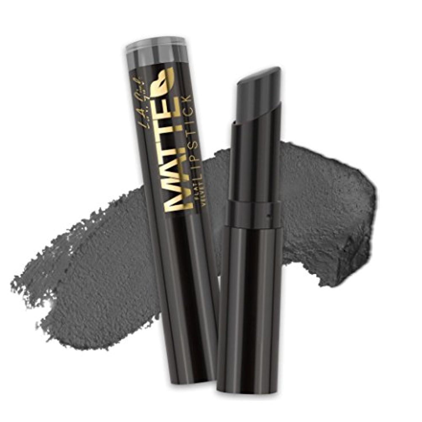 ギャングスター一晩個人(3 Pack) L.A. GIRL Matte Flat Velvet Lipstick - Poetic (並行輸入品)