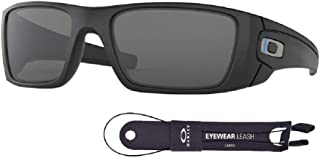 Oakley Fuel Cell OO9096 9096G5 60M Matte Black/Grey Sunglasses For Men+BUNDLE with Oakley Accessory Leash Kit