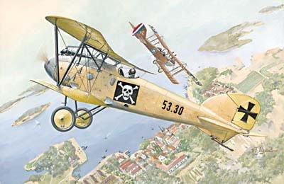 ローデン 1/72 墺 アルバトロス D.3 Oeffag s53 戦闘機 WW-1 072T022 プラモデル