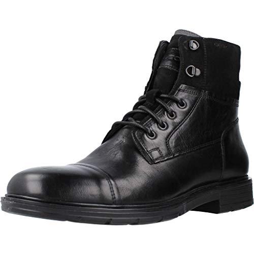 Geox U ALBERICK A, Botas Clasicas Hombre, Negro (Black C9999), 45 EU