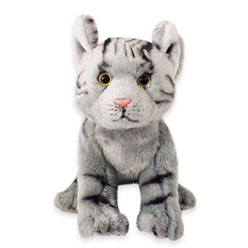 Nat and Jules Playful Small Tabby Cat Children's Plush Stuffed Animal Toy