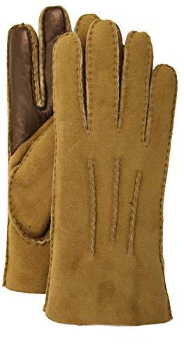 UGG Contrast Water Resistant Sheepskin Tech Gloves Chestnut XL