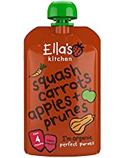 Ella's Kitchen Organic Puree, Squash, Carrots, Apples And Prunes, 120g (Pack of 1)