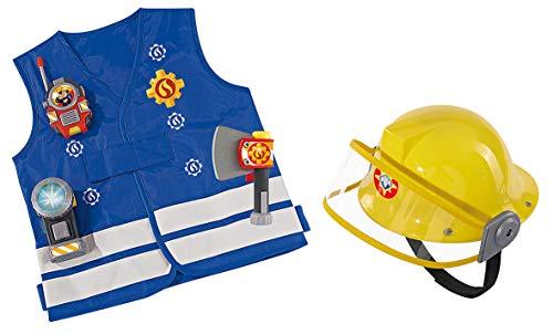 Smoby–Kit Sam Il Pompiere + Cuffie, 109250745smo, Blu