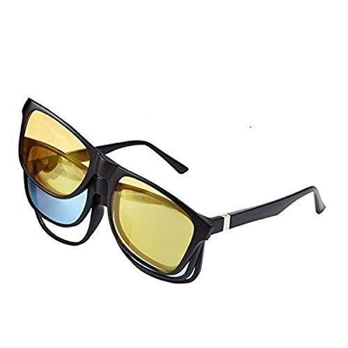 Gepolariseerde zonnebril, 3-in-1. Verwisselbare magnetische kristallen.