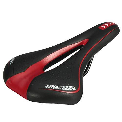 Fietszadel, ergonomisch gevormde fietszitje voor elektrische fiets, zitkussen premium gel met mol, geschikt voor alle soorten fietsen, design kabels en ademend, blauw en zwart