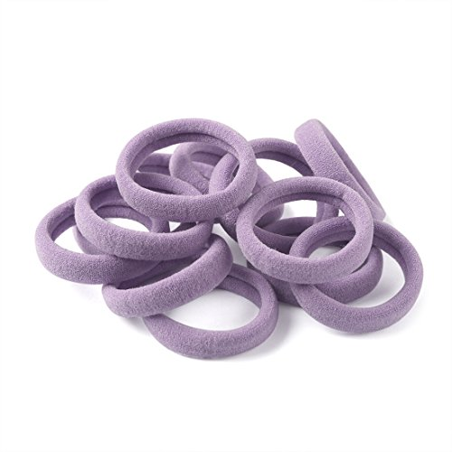 XIMA 60pcs Nylon Elastic Hair Ties Hair Ties Bands Rope No Crease Elastic Fabric Large Cotton Stretch Ouchless Ponytail Holders (60pcs-Liac(HT007-14))