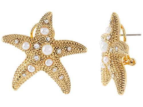 Kate Spade New York Sea Star Starfish Statement Studs Earrings Gold Multi One Size