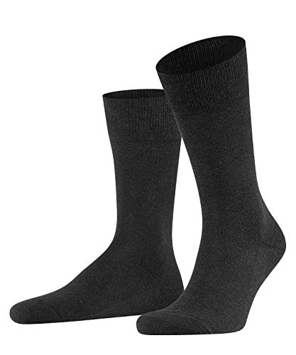 FALKE Herren Family M SO Socken, Blickdicht, Grau (Anthracite Melange 3080), 43-46