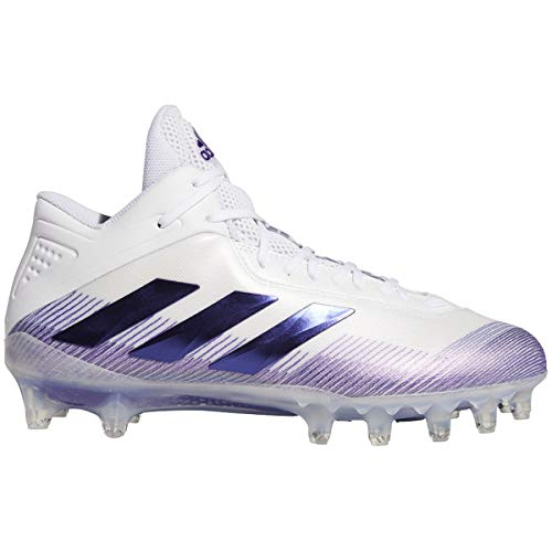 adidas Men's GNE67 Football Shoe, White/Team Collegiate Purple/Night, 10