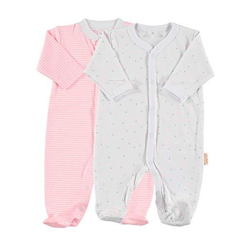 Petit Oh! - Pack de 2 Pijamas de Manga Larga para bebé 100% algodón Pima Talla 6-9 Meses