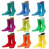 von Jungfeld - bunte Herren Socken / Strümpfe, Multicolor, 9er Pack (grün, blau lila, gelb, rot, orange, numeric_43)