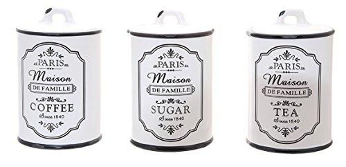 Alice Collection–Juego de café, té y azúcar de cerámica tarr