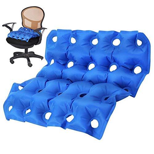 SXTYRL sitzkissen orthopädisch aufblasbar stuhlkissen Antidekubitus Sommer Sitzpolster für Ischias Steißbein Orthopädie für Bürostühle, Rollstühle, Küchenstühle, Liegestühle, Autositze, Blue