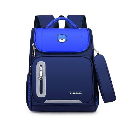 YIXIN Bolsas escolares para niños, adolescentes, niñas, libros de poliéster, mochila impermeable para la escuela primaria para niños de 6 a 12 años de edad, mochila ligera para biblioteca
