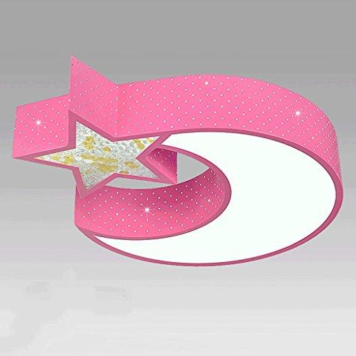 Lámparas de techo rústicas LED lámpara de techo ahorro de energía, personalidad creativa Crystal Moon Star lámpara de techo hueco, dormitorio de niños cálido y encantador Kindergarten lámparas de tech