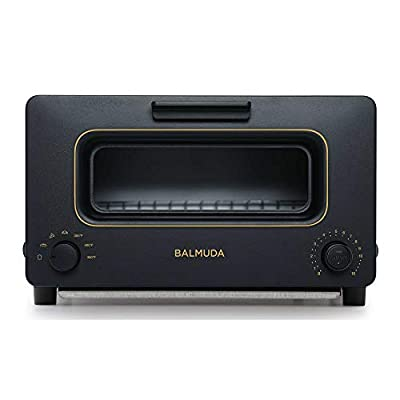 BALMUDA The Toaster   Steam Oven Toaster   5 Cooking Modes - Sandwich Bread, Artisan Bread, Pizza, Pastry, Oven   Compact Design   Baking Pan   K01M-KG   Black   US Version