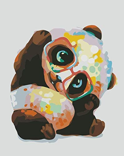 bnkrtopsu Mach es selbst Malen nach Zahlen Ölgemälde- Gekrümmtes Tier -Kits für Erwachsene und Kinder Anfänger vorgedruckte Leinwand Sichere Acrylfarben (40*50cm Kein Rahmen)