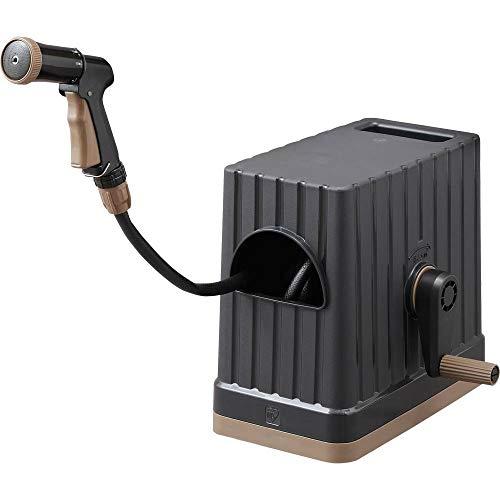 アイリスオーヤマ ホース リール FHEXN-15 ブラック 水やり 洗車 掃除 巻き取りやすい