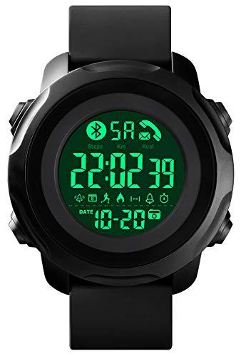 Digital Herren Sportuhr Militärische Smartwatch Outdoor Schrittzähler LED Stoppuhr 5 ATM Wasserdicht Militär Männer Elektronische Armbanduhr